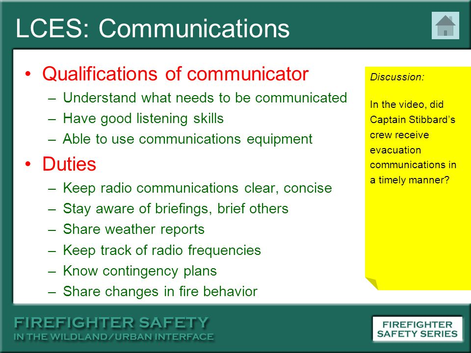 LCES: Communications Qualifications of communicator Duties