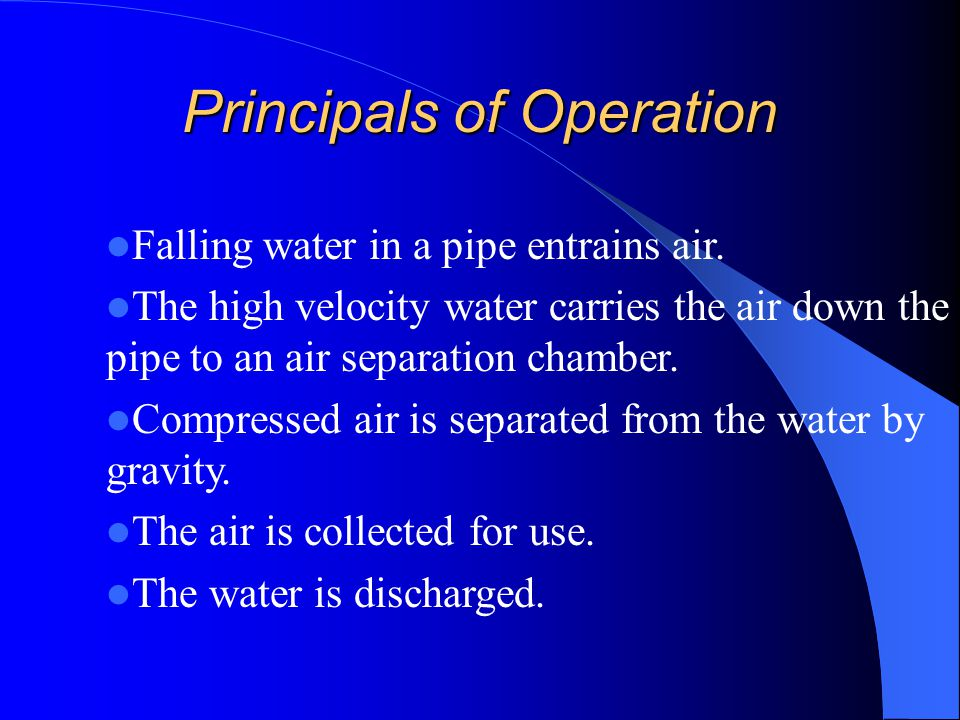 Principals of Operation