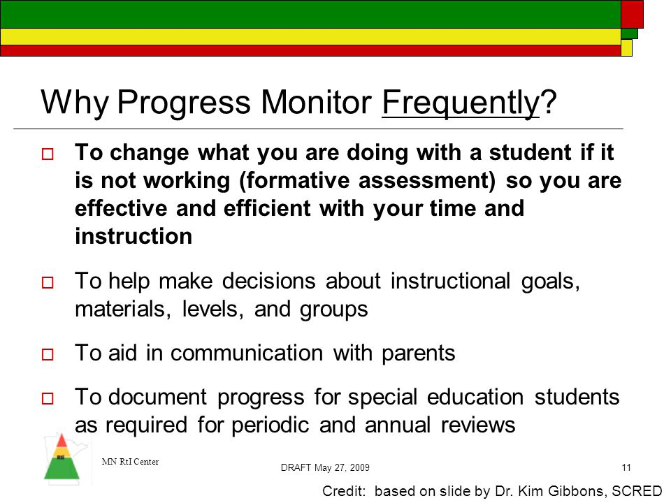 Why Progress Monitor Frequently