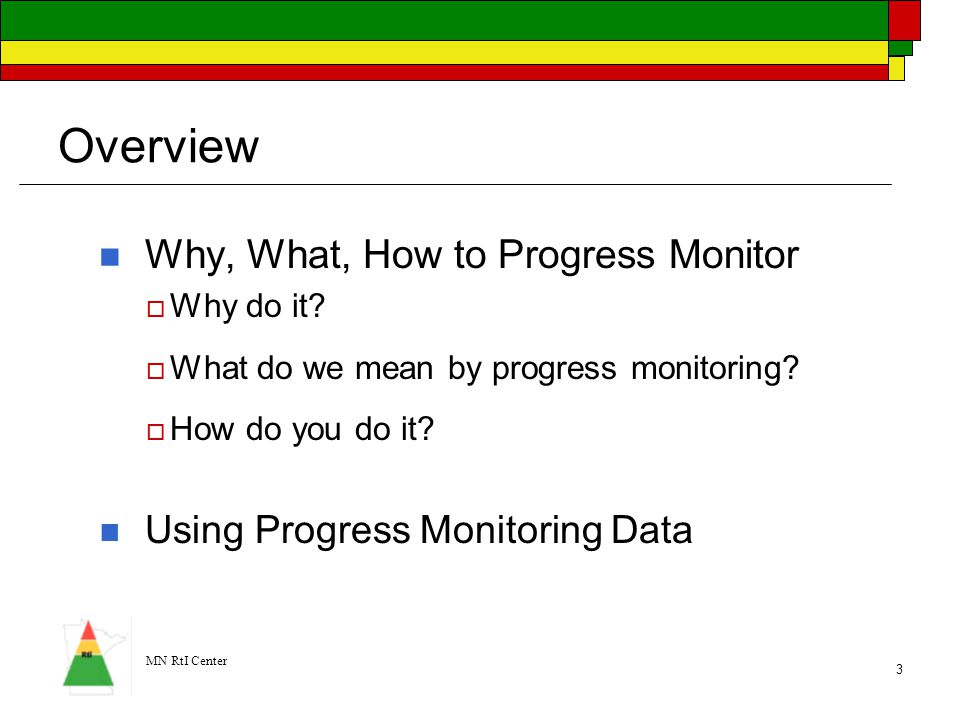 Overview Why, What, How to Progress Monitor