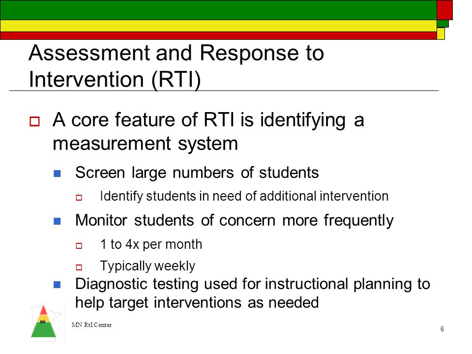Assessment and Response to Intervention (RTI)