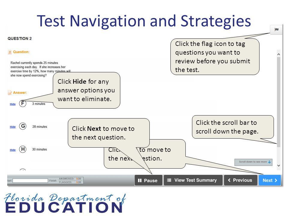 Test Navigation and Strategies