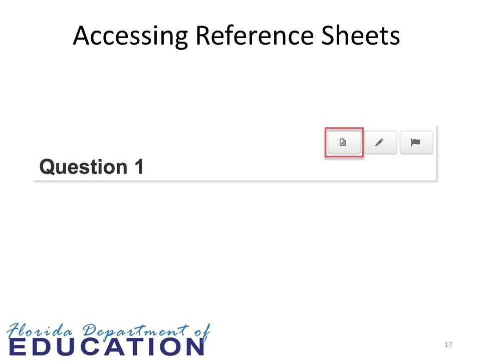 Accessing Reference Sheets