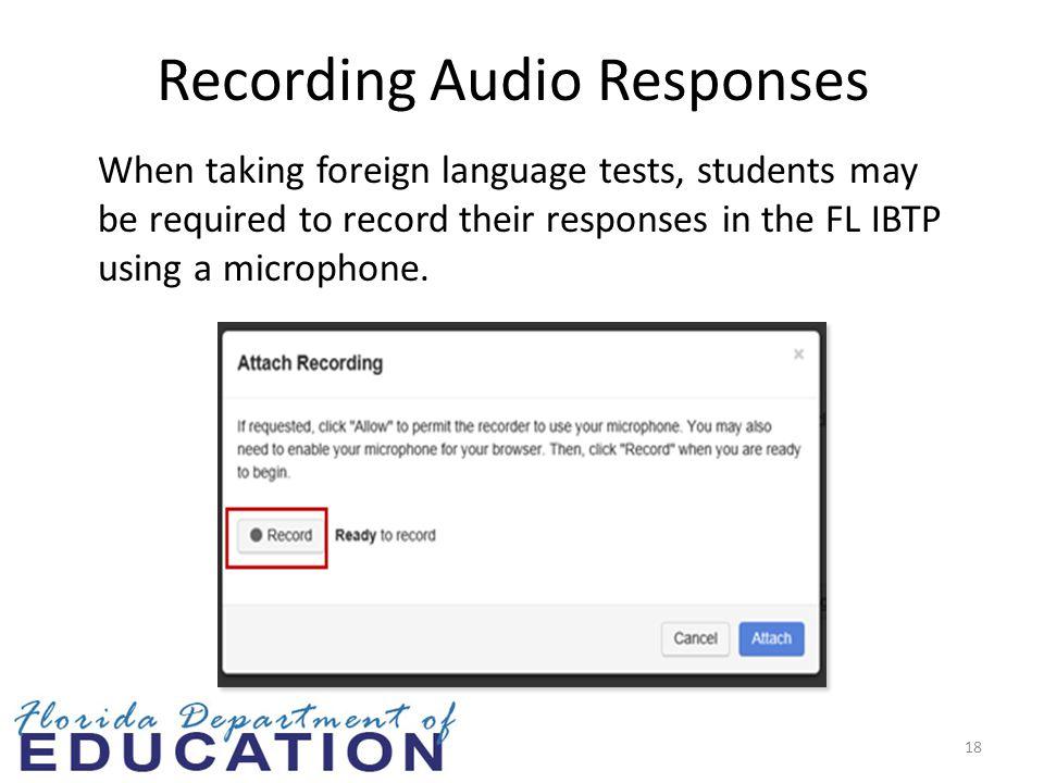 Recording Audio Responses