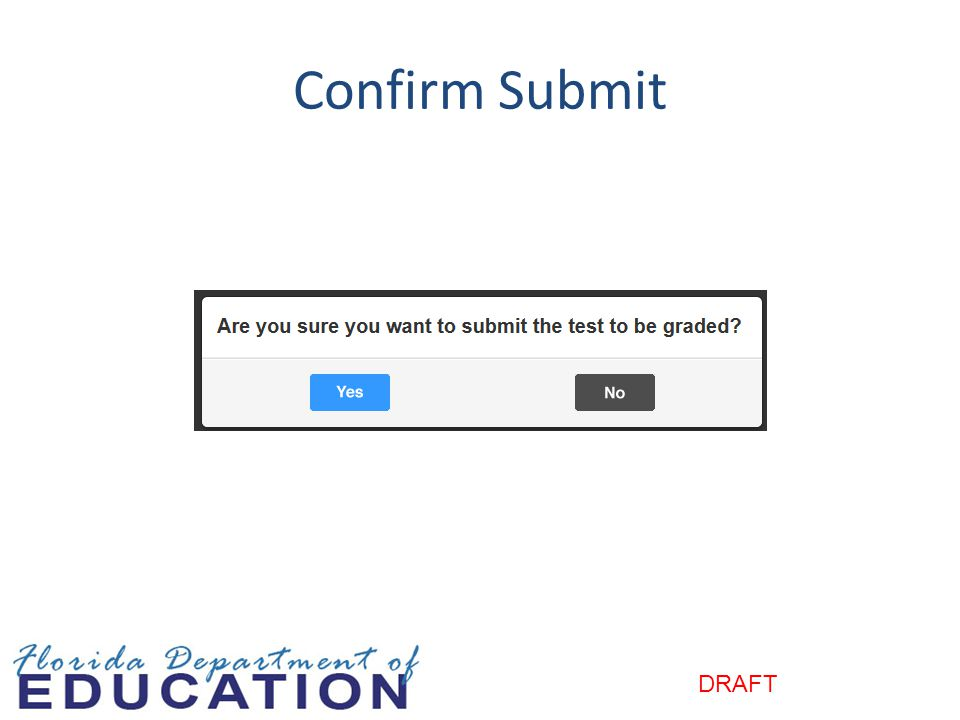 Confirm Submit