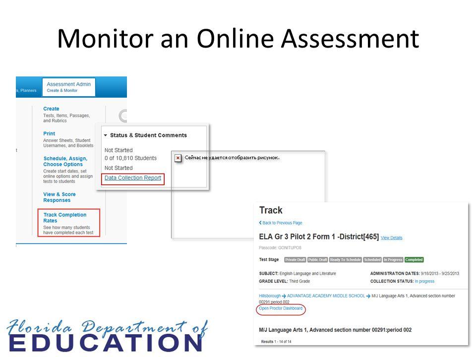Monitor an Online Assessment