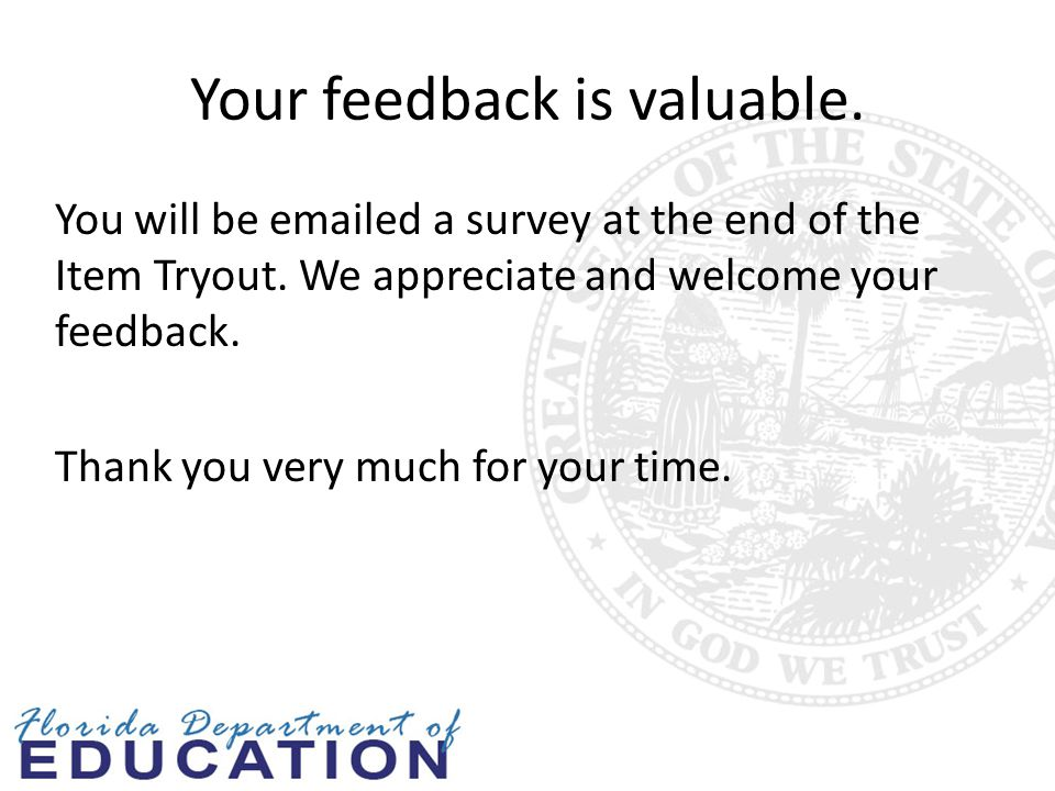Your feedback is valuable.
