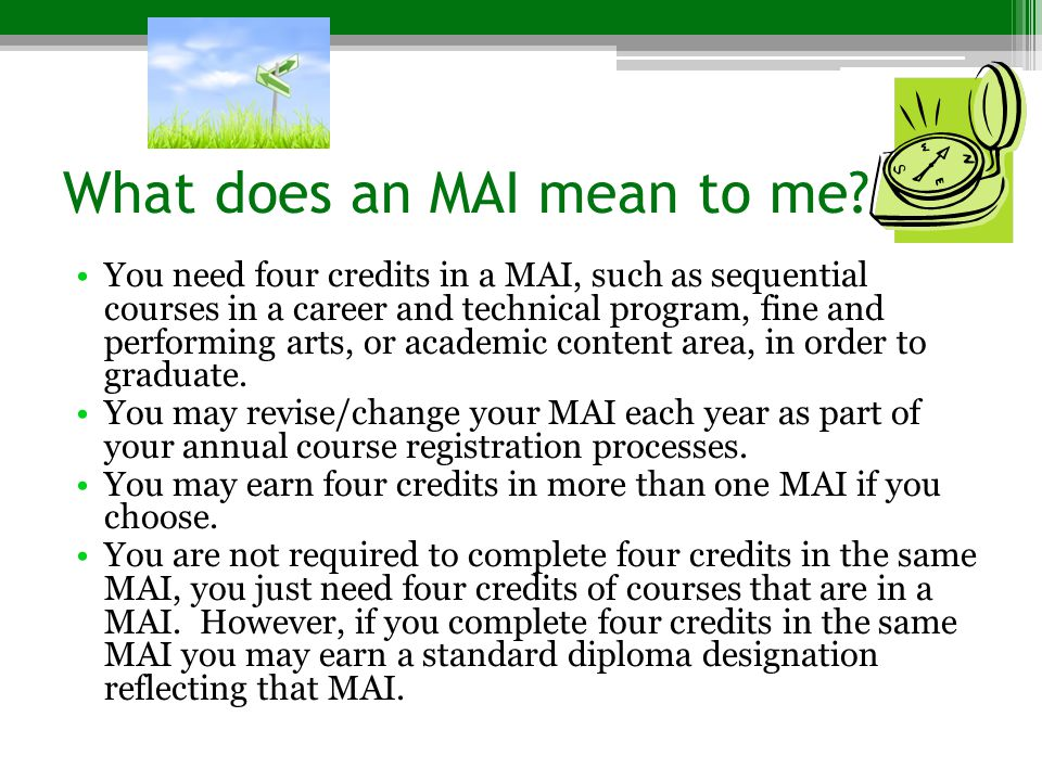 What does an MAI mean to me