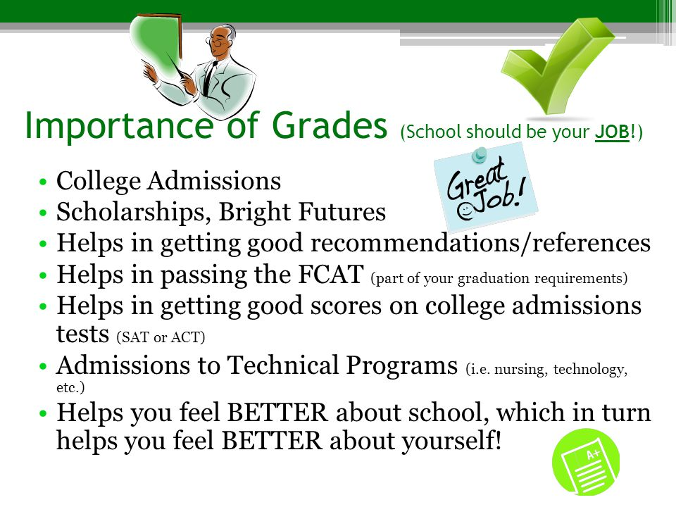 Importance of Grades (School should be your JOB!)