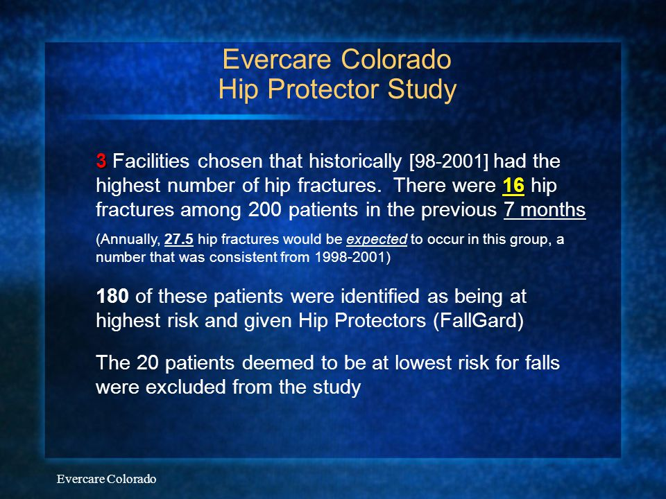 Evercare Colorado Hip Protector Study