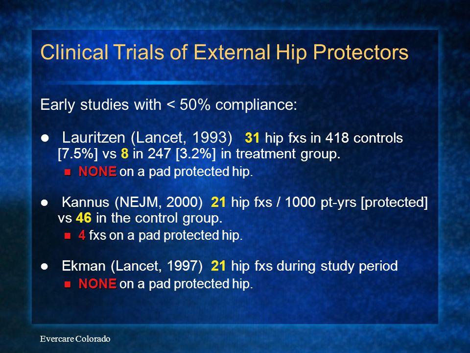 Clinical Trials of External Hip Protectors