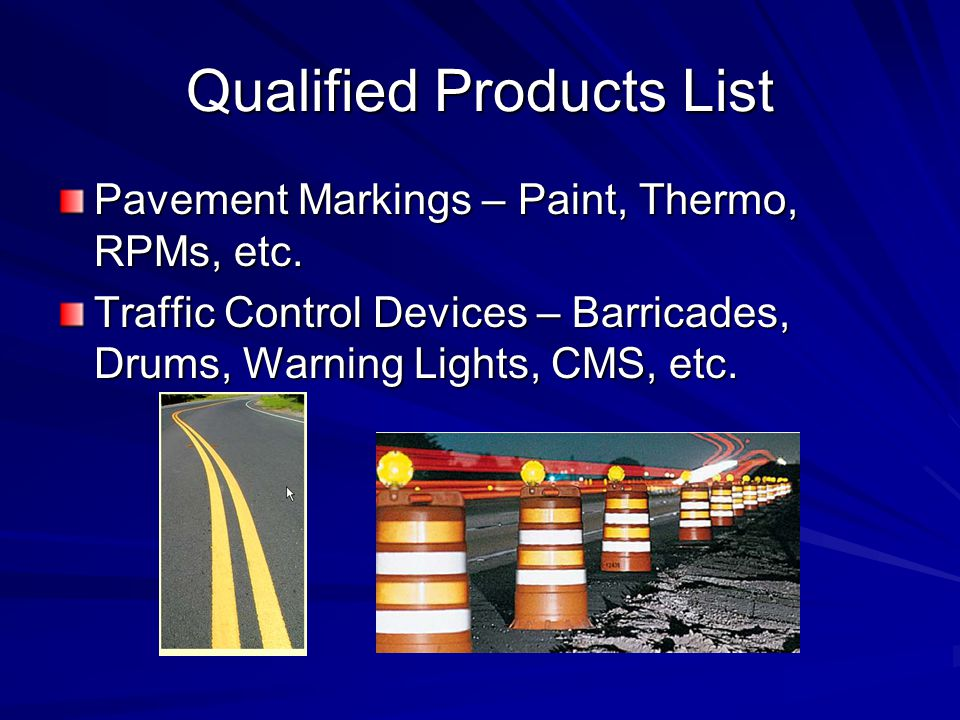 Qualified Products List