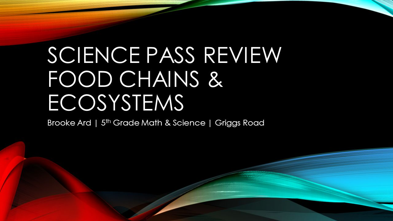 SCIENCE PASS Review Food Chains & Ecosystems