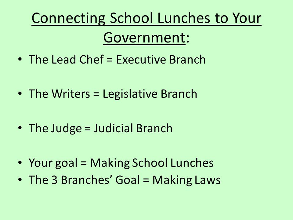 Connecting School Lunches to Your Government:
