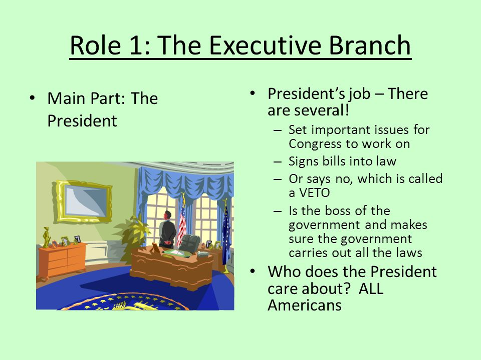 Role 1: The Executive Branch