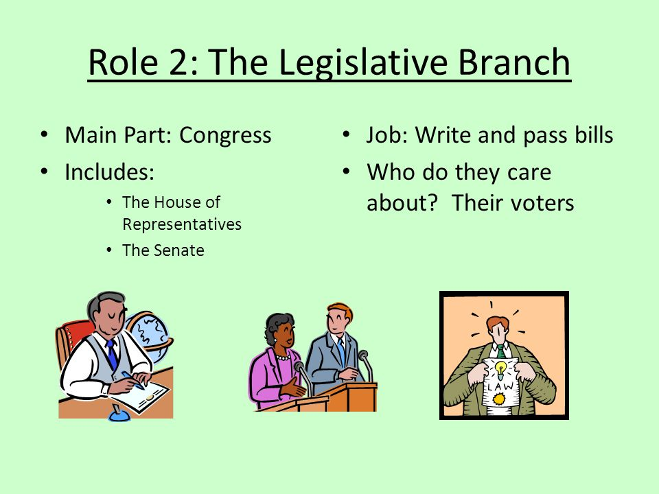Role 2: The Legislative Branch
