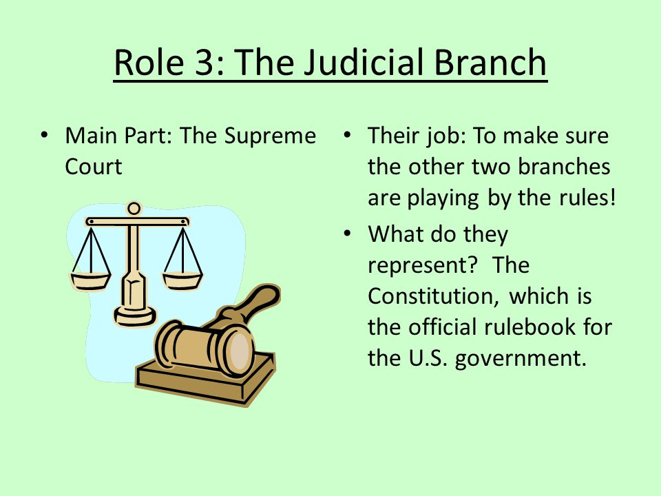 Role 3: The Judicial Branch
