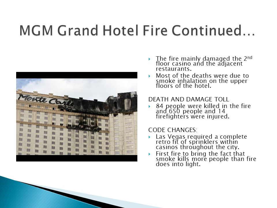 MGM Grand Hotel Fire Continued…