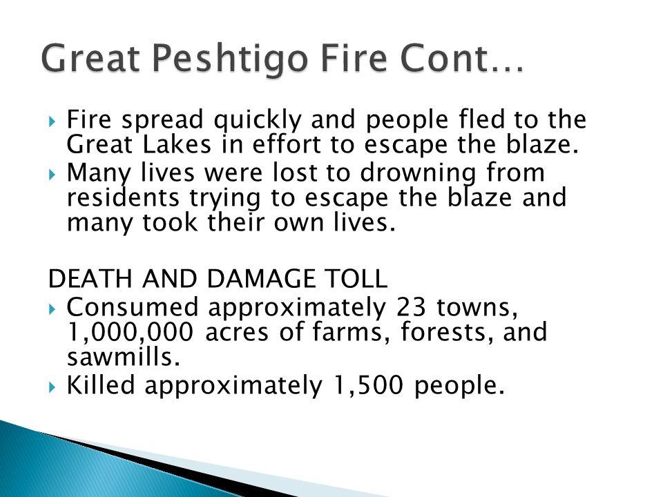 Great Peshtigo Fire Cont…