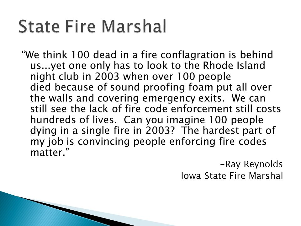State Fire Marshal