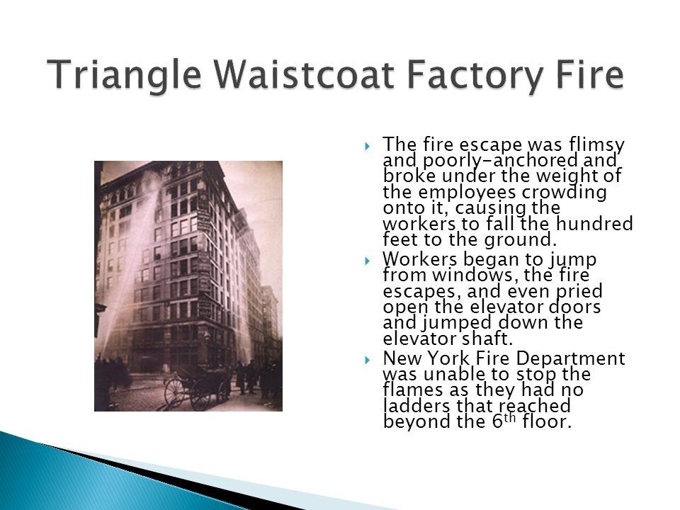 Triangle Waistcoat Factory Fire