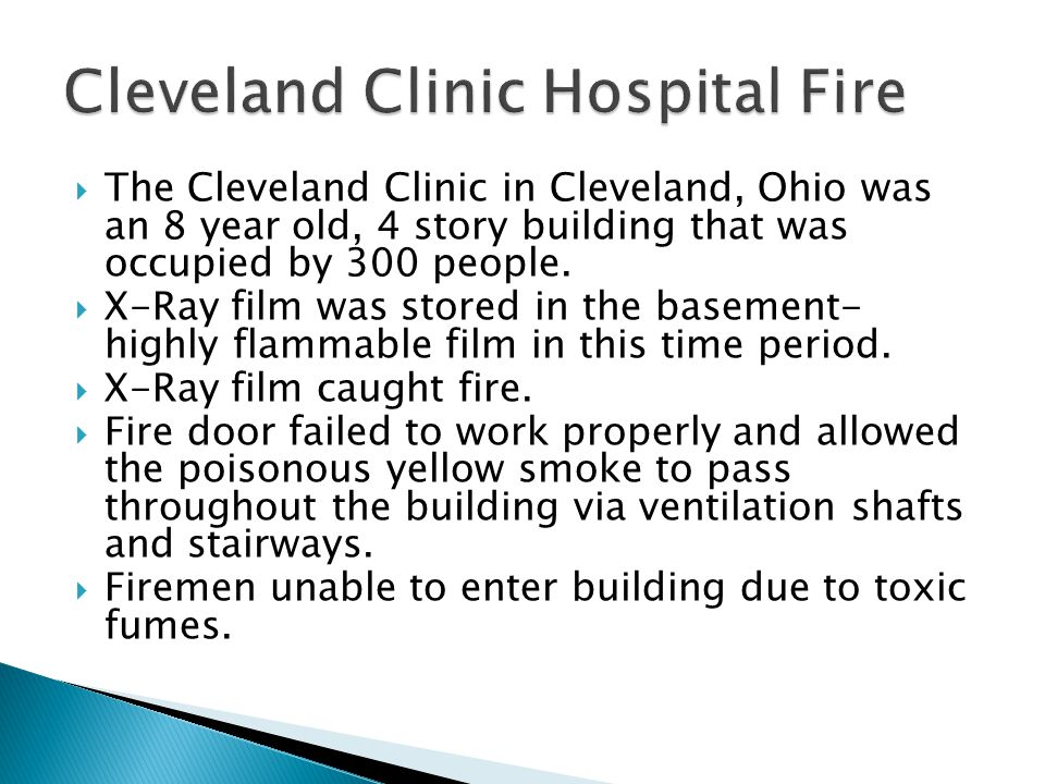 Cleveland Clinic Hospital Fire