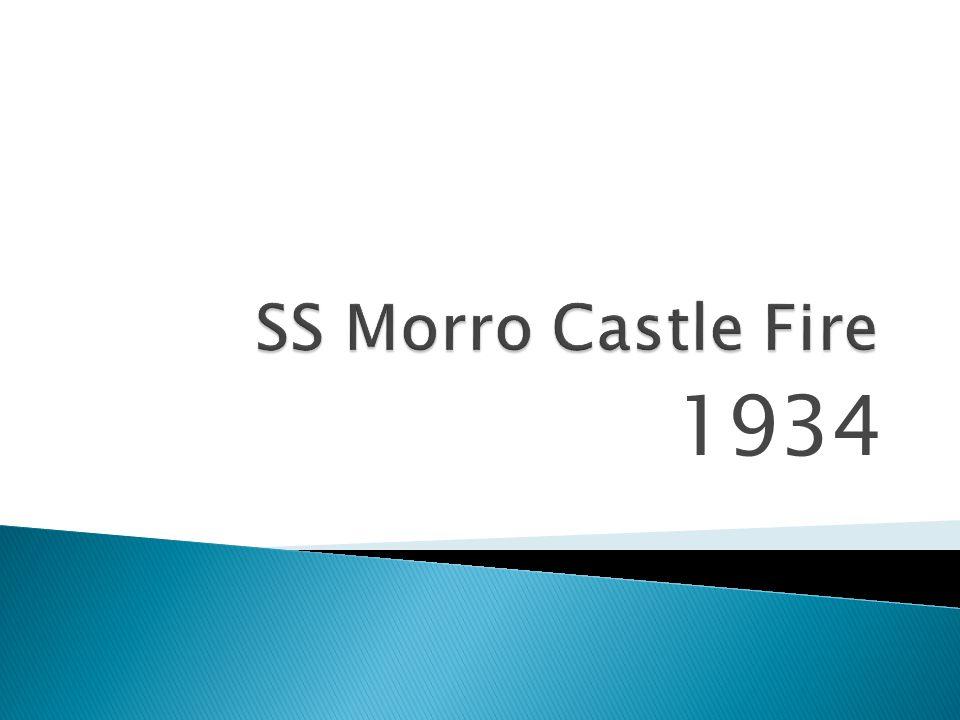 SS Morro Castle Fire 1934