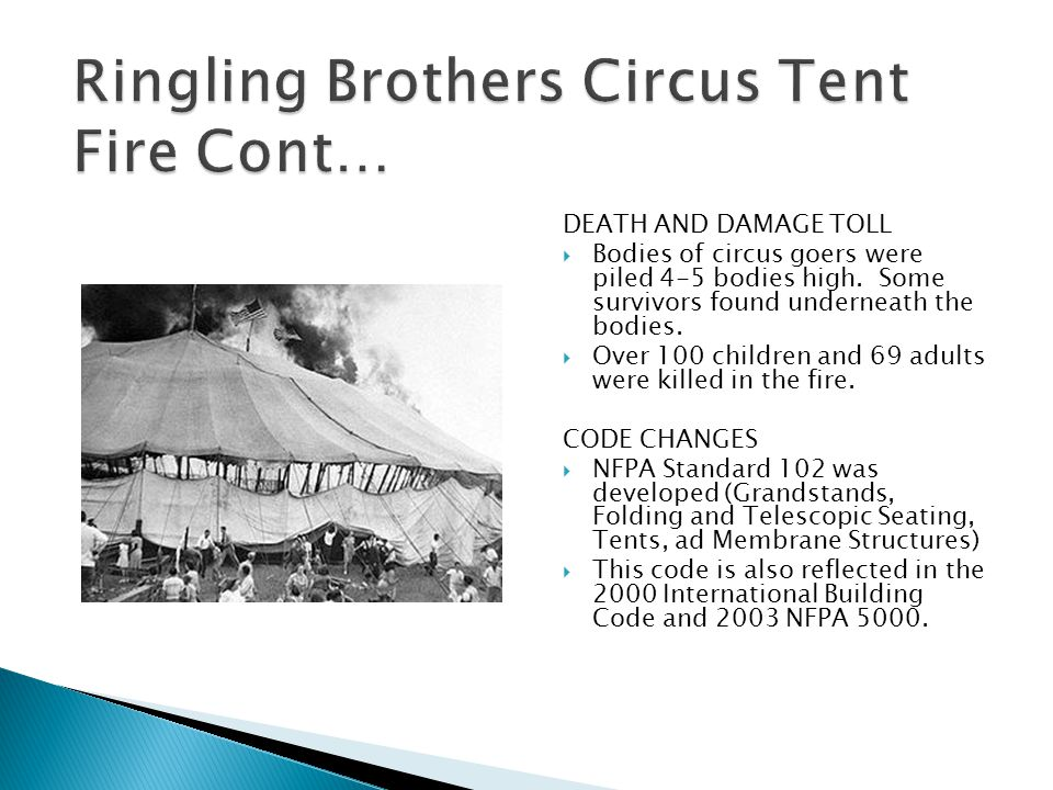 Ringling Brothers Circus Tent Fire Cont…