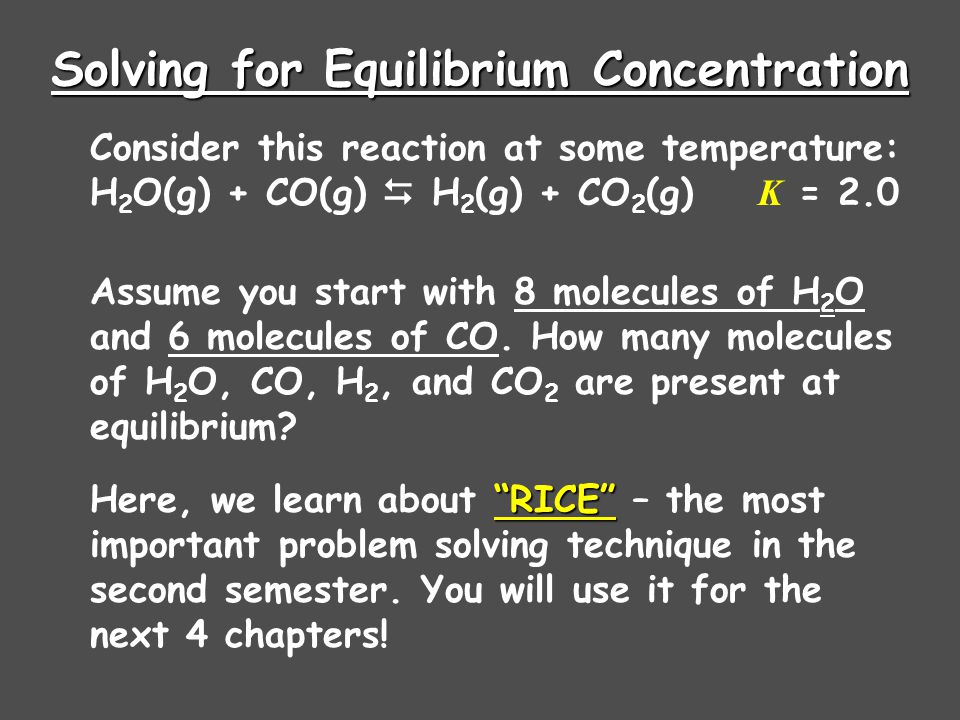 Solving for Equilibrium Concentration