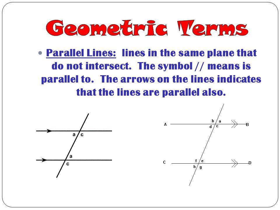 Geometric Terms