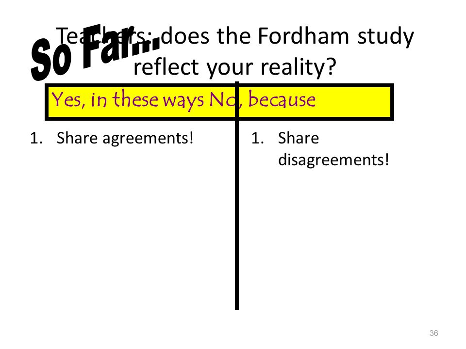 Teachers: does the Fordham study reflect your reality