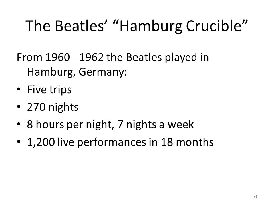 The Beatles' Hamburg Crucible