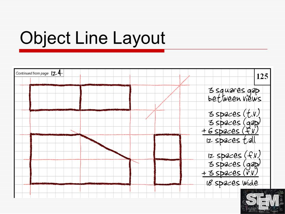 Object Line Layout