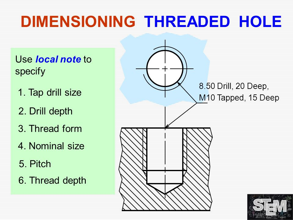 DIMENSIONING THREADED HOLE