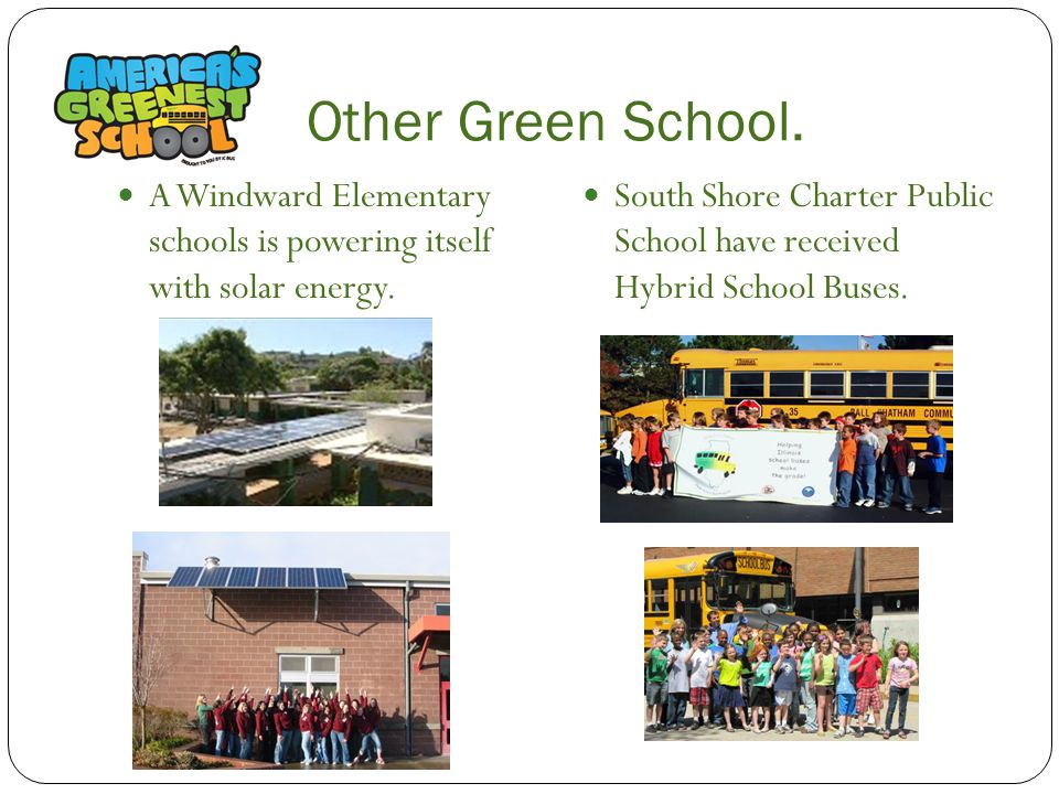 Other Green School. A Windward Elementary schools is powering itself with solar energy.
