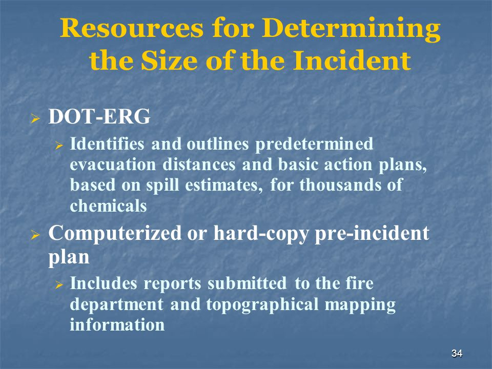 Resources for Determining the Size of the Incident