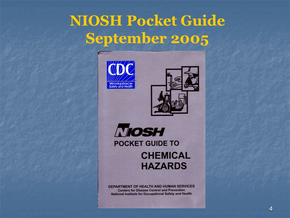 NIOSH Pocket Guide September 2005