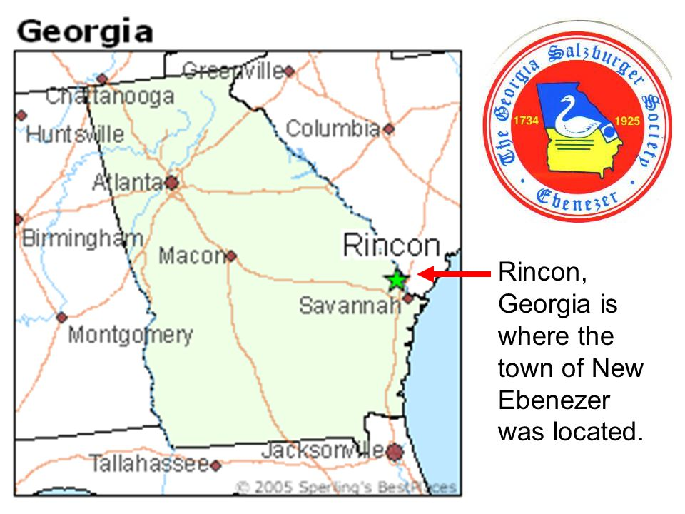 Rincon, Georgia is where the town of New Ebenezer was located.
