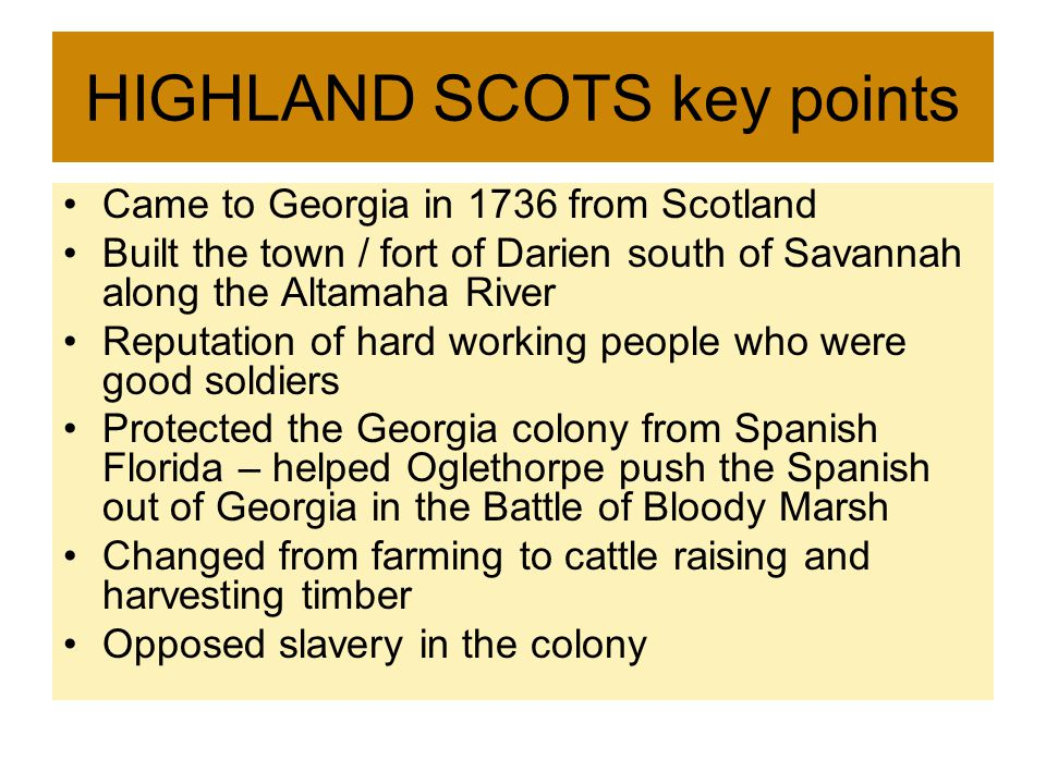 HIGHLAND SCOTS key points