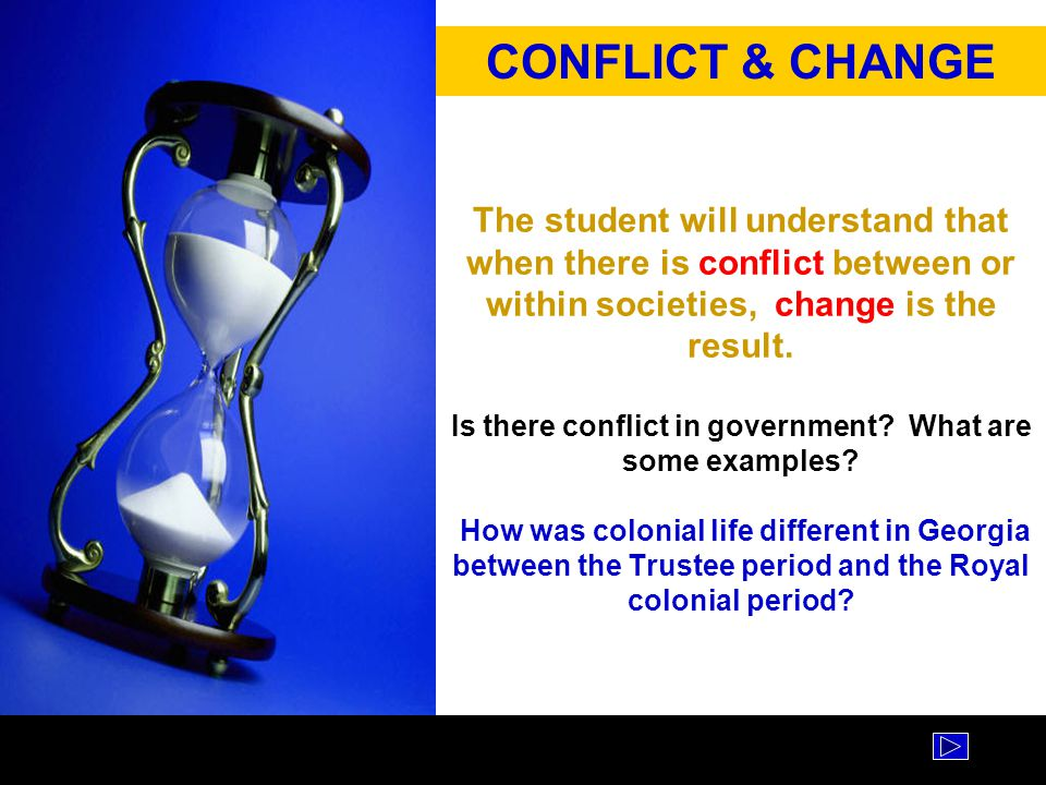 CONFLICT & CHANGE