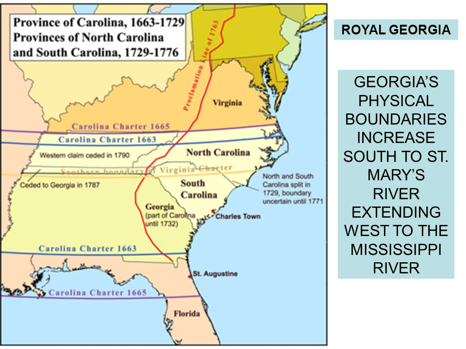 ROYAL GEORGIA GEORGIA'S PHYSICAL BOUNDARIES INCREASE SOUTH TO ST.