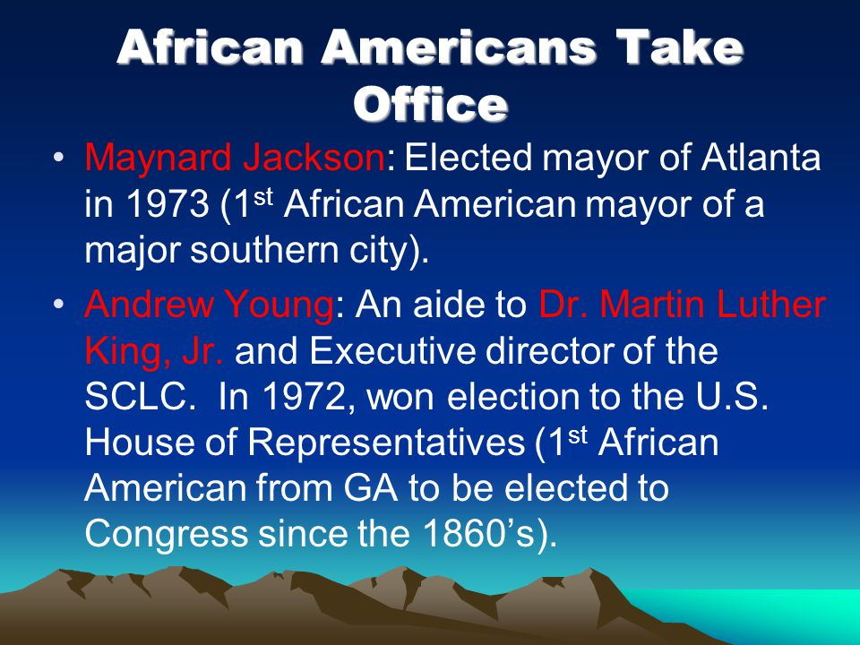 African Americans Take Office