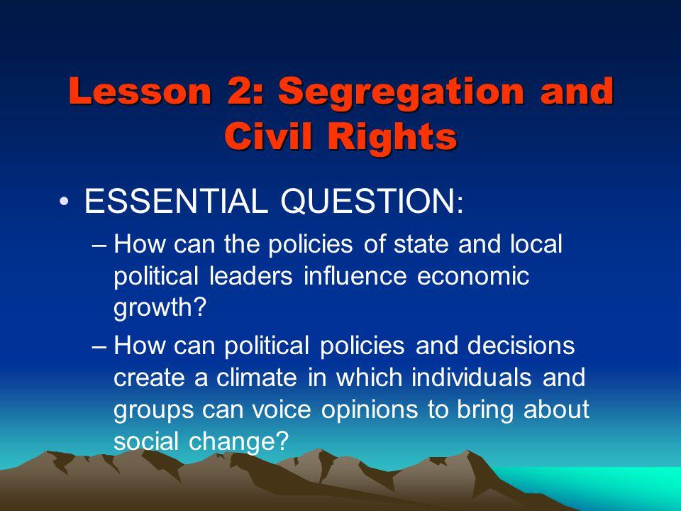 Lesson 2: Segregation and Civil Rights