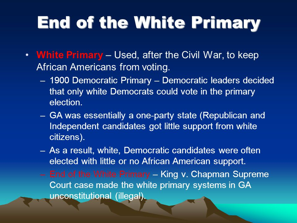 End of the White Primary