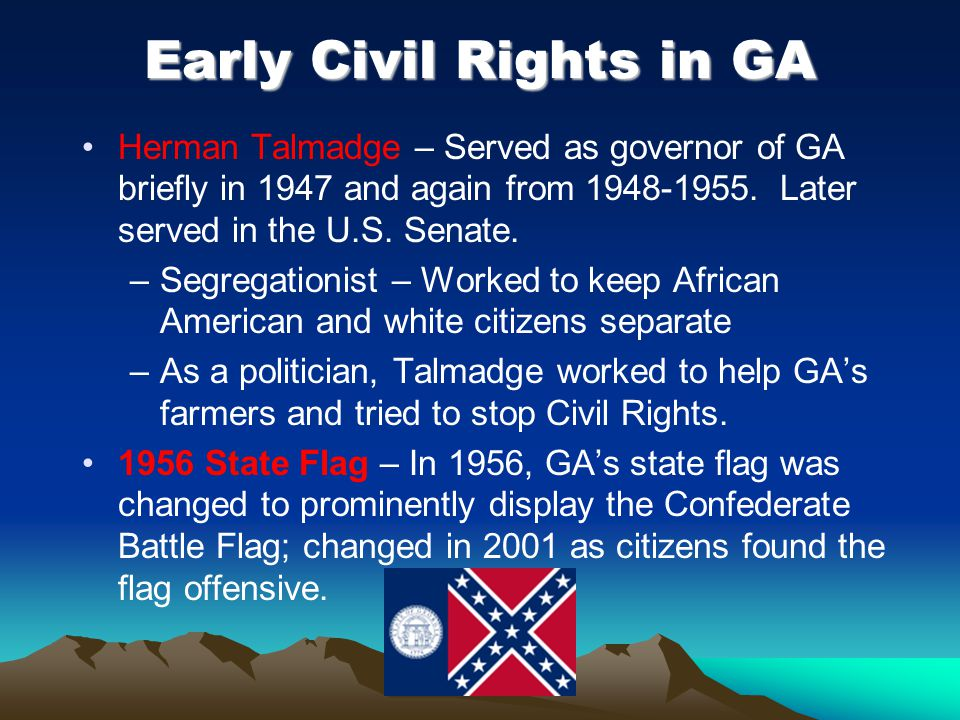 Early Civil Rights in GA