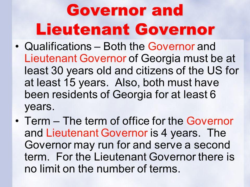 Governor and Lieutenant Governor