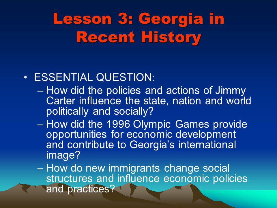 Lesson 3: Georgia in Recent History