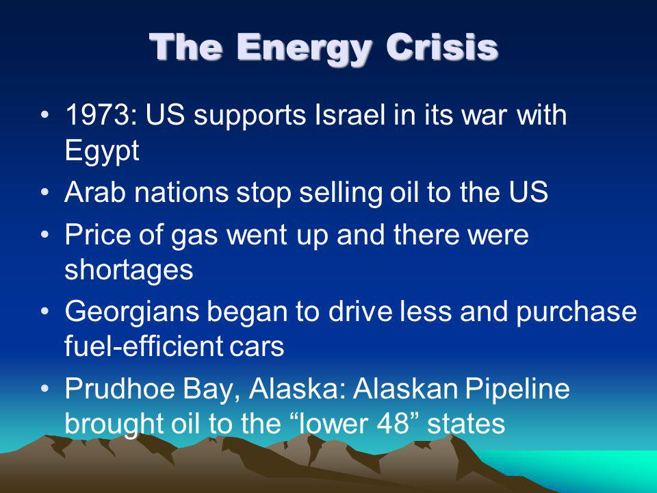 The Energy Crisis 1973: US supports Israel in its war with Egypt