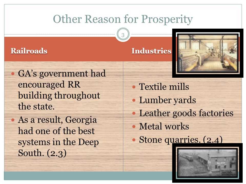 Other Reason for Prosperity