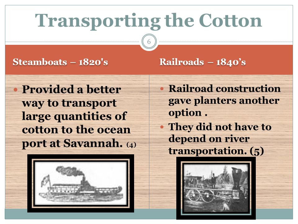 Transporting the Cotton